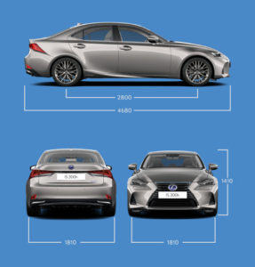 Lexus IS Hybrid Dimensioni